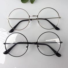 2e12d7377d298 New man Woman Retro Large Round Glasses Transparent Metal eyeglass frame  Black Silver Gold spectacles Eyeglasses 3 Colors - Beautiful Daily Shares