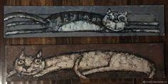 Миниатюрные котики – купить на Ярмарке Мастеров – HAT0NRU   Картины, Архангельск Cat Art, Cats, Gatos, Cat, Kitty, Kitty Cats