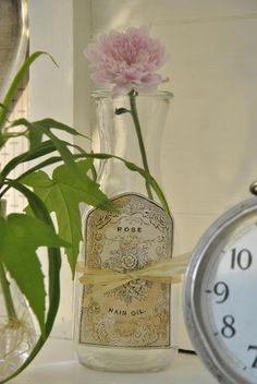 ...flower in vintage bottle