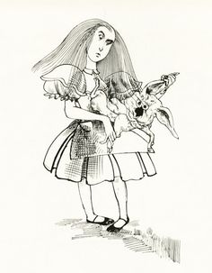 Alice no país das maravilhas por Ralph Steadman Illustrated: A Gem 1973 | Colheitas do cérebro