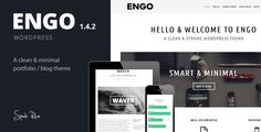 Engo - Smart & Minimal WordPress Theme by SpabRice Engo is a smart, clean & minimal wordpress theme.This theme is responsive, retina ready, includes lots of shortcodes and theme opt