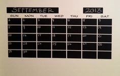 SALE Mini Chalkboard CalendarMonthly or Weekly by BradensGrace you need to contact her to get what you need