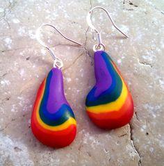 ed5926d60887 Pendientes lgbt largos arcoiris bandera orgullo gay plata earrings silver es