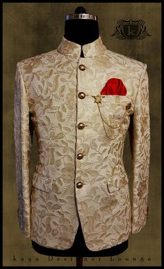 Bandgala coat - Wedding And Engagement Indian Wedding Suits Men, Mens Indian Wear, Mens Ethnic Wear, Indian Groom Wear, Wedding Dress Men, Indian Men Fashion, Mens Fashion Suits, Kurta Men, Mens Sherwani