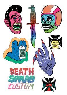 DEATH SPRAY CUSTOM collaborations