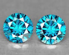 0.22 CTS VS CLARITY REAL LOOSE FANCY BLUE COLOUR CERTIFIED ROUND DIAMOND PAIR