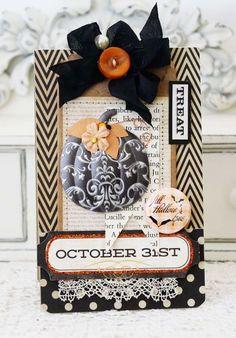 Beautiful Halloween card by Melissa