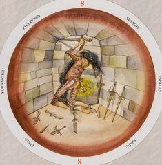 Eight of Swords - Circle of Life Tarot by Maria Distefano