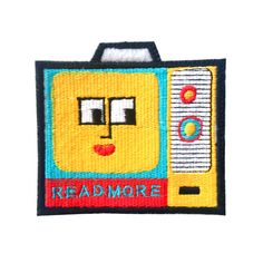 HOME :: Pins & Patches :: PATCHES :: Read more / tv patch iron on patch by Jess Warby