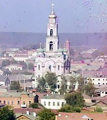 Yekaterinburg - This photo by Sergey Prokudin-Gorsky from 1910 shows the tallest building in the pre-revolutionary Urals, the Great Zlatoust bell tower