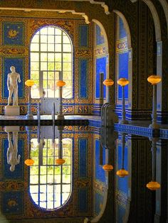 Wish I could jump in. Who wouldn't wanna swim with gold?!? Hearst Castle