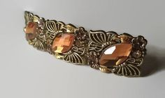 Hair Barrette New Gold and Orange French Barrette Hair Accessories Jewelry Hair clip