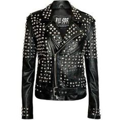 Kill Star Men's Studded Leather Jacket