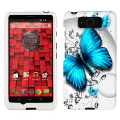 Motorola Droid Ultra Maxx Blue Butterfly Phone Case Cover $8.99