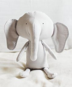 Elephant Sewing Pattern Softie Plush Toy Cloth