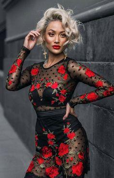 Hi Fashion, Minimal Fashion, Fashion Killa, Fashion Wear, Womens Fashion, Red And White Outfits, Micah Gianneli, Tango Dress, Glam Girl
