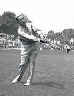 """Walter Hagen: The Haig was golf's great barnstormer, a self-styled bon vivant who showed up for exhibitions in a dinner jacket with an overnight blonde on one arm and a clingy brunette on the other. (All for effect, he would later claim.) """"Golf has never had a showman like him,"""" said Gene Sarazen, his friend and rival. Nor has golf had a freer spender than Hagen, who traveled first class and frequented the finest hotels and eateries... #golf #channels"""