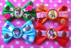 Sailor Moon Inner Scout Hair Bows by hobbittownjewelry on Etsy