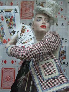 visual merchandising harrod's window display playing cards
