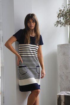 3a1af43d47 HELLO SAILOR STRIPE SHORT DRESS – Mandalay Designs