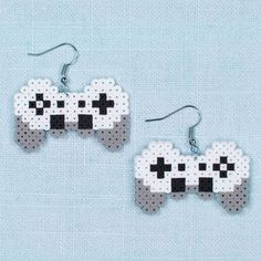 Mini Beads Gaming Earrings Are you a devoted video gamer? Then these Perler Mini Beads gaming earrings are the perfect fashion item to show off your interest. Quick and easy to make!