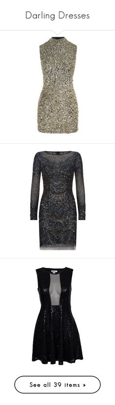 """""""Darling Dresses"""" by kylen91 ❤ liked on Polyvore featuring dresses, cocktail party dress, gold sparkly dress, sequin dress, brown dresses, sequin cocktail dresses, short dresses, black dresses, jovani cocktail dresses and embellished cocktail dresses"""