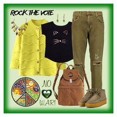 """""""Rock the Vote in Style"""" by winscotthk ❤ liked on Polyvore featuring Current/Elliott, BAGGU and STELLA McCARTNEY"""