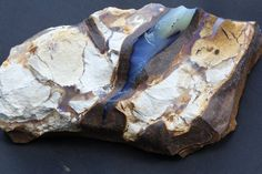 Rough Boulder Opal Mineral Specimen with Blue Color, Sample of Raw Australian Opal for Collector, Natural Gemstone Curio, Hand Size, Small. #jewelry #jewelrymaking #jewelrydesign #boho #bohochic #gypsy #bohostyle #bohojewelry #opal #stone #gemstone #pearl   #raw