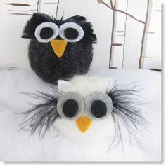 The Advent Calendar Project Week 22 Felt Owls · Felting | CraftGossip.com