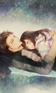 Voltage Inc. / My last first kiss Couple Amour Anime, Couple Anime Manga, Anime Amor, Anime Cupples, Kawaii Anime, Anime Couples Cuddling, Anime Couples Sleeping, Romantic Anime Couples, Anime Couples Drawings