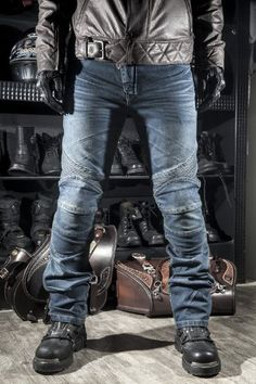 2015 New Locomotive jeans With knee protector Rider pants CE Gear Motorcycle Shorts Leisure Cultivate Blue Jeans for four season M