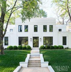 Gorgeous Art Deco style home in Houston,Tx Featured in Atlanta Homes & Lifestyles. Gorgeous Art Deco style home in Houston,Tx Featured in Atlanta Homes &. Casa Art Deco, Art Deco Home, Art Deco Decor, Exterior Design, Interior And Exterior, Architecture Design, Atlanta Homes, Atlanta Art, Houses In Atlanta