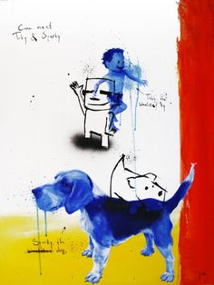 """Saatchi Art Artist Jan-Hein Arens; Painting, """"Toby and Sparky"""" #art"""