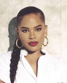 Alissa Ashley, Give It To Me, Make Up, Beautiful Black Women, Black Girl Magic, Makeup Looks, Hoop Earrings, Hair Styles, Photography