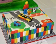 Google Image Result for http://www.cakepicturegallery.com/d/20670-2/Lego%2Bblocks%2Bcake%2Bwith%2Brace%2Bcars.JPG