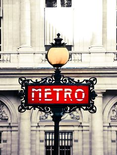 PARIS METRO. #red #art #deco @Amanda Kezios