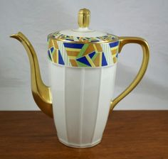 Verseuse Art déco porcelaine de Limoges MG - J Granger & Cie