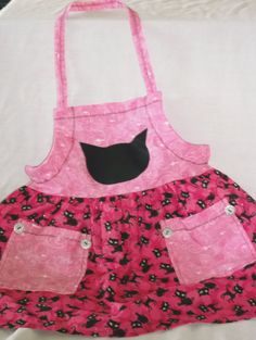 Pin Up Lil' Kitty Pink Childrens Applique by CrazyJanesPinUpLife, $16.99