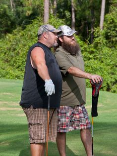 Two of the most sophisticated golfers around. Willie and Larry.  Collared shirts are...forget it!
