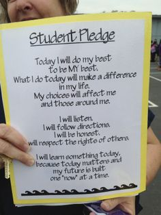 Good for a daily reminder for students