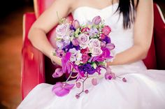 pink and purple bouquet! photo by nikki Meyer