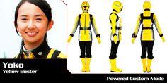 Tokumei Sentai Go-Busters - Yoko (Yellow Buster) - Super Sentai Time Capsule Kamen Rider Wizard, Go Busters, Hero Time, 16 Year Old, Time Capsule, Yoko, Power Rangers, Yellow, Fictional Characters