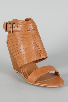 $27.90 Qupid Gipsy-01 Strappy Ankle Cuff Open Toe Wedge