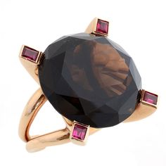 1stdibs - ANTONIO PINEDA Gold Ring with Smokey Topaz explore items from 1,700  global dealers at 1stdibs.com