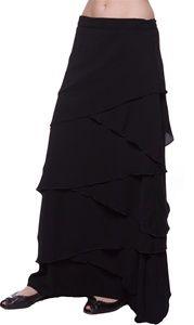 A chiffon skirt