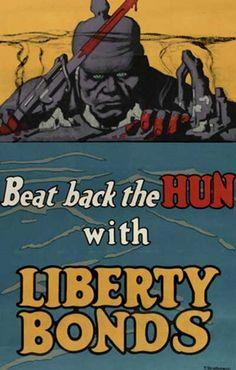 "WW1 ""Beat Back the Hun"" poster"