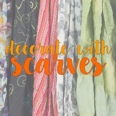 Decorate with scarves! Scarves, Prints, Instagram Posts, Blog, Decor, Scarfs, Decoration, Decorating, Blogging