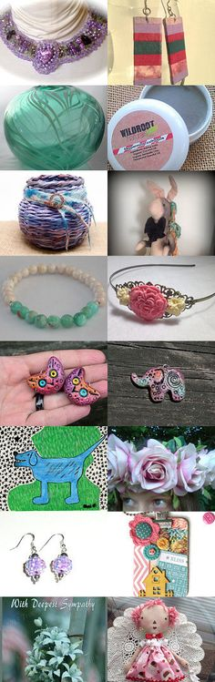 Pretty and Colorful Too by Ellen Segal-Smith on Etsy--Pinned with TreasuryPin.com jewelry