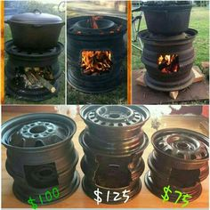 "Acquire fantastic tips on ""outdoor fire pit party"". They are actually offered for you on our site. Metal Projects, Welding Projects, Outdoor Projects, Outdoor Stove, Outdoor Fire, Rim Fire Pit, Fire Pits, Diy Wood Stove, Eco Deco"