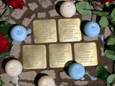 In memory of the Altmann family who lived in Waldstr.viertel, Stolpersteine Leipzig.  There were our neighbours.
